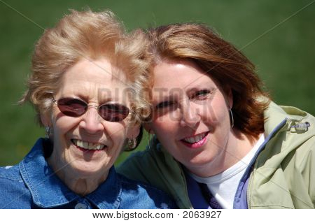 Mom And Gram At The Park Close Up