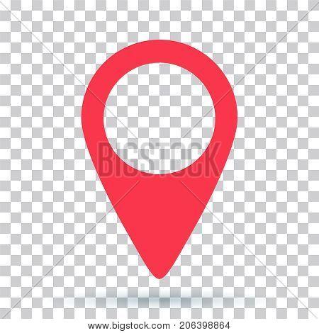 pin map navigation localization icon image. Pointer minimal vector symbol marker sign