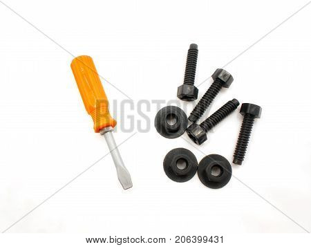 Set of Children's Screwdriver Screws and Nuts