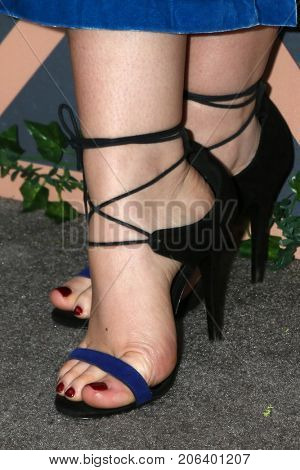LOS ANGELES - SEP 25:  Natalie Alyn Lind (shoe detail) at the FOX Fall Premiere Party 2017 at the Catch on September 25, 2017 in West Hollywood, CA