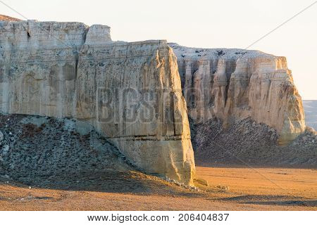 Cliff on the edge of the Ustiurt plateau, Kazakhstan.