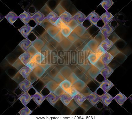 Plasmatic fractal picture on the dark background