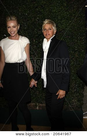 WEST HOLLYWOOD, CA  - JAN 5:  Ellen Degeneres and Portia De Rossi at the COVERGIRL 50th Anniversary Celebration at BOA Steakhouse held on January 5, 2011 in West Hollywood, California.