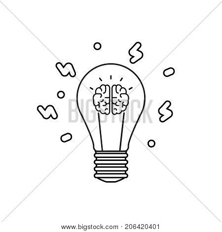 Innovation icon. Idea and imagination. Innovation concept. Black shapes on the isolated white background. Vector Illustration icon
