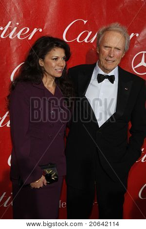 PALM SPRINGS, CA - JAN 6:  Clint Eastwood, wife Dina Ruiz at the 2010 Palm Springs International Film Festival gala at the Palm Springs Convention Center on January 6, 2010 in Palm Springs, California.