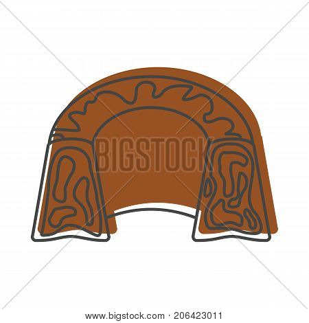 Pudding bakery product in doodle style icons vector illustration for design and web isolated on white background. pudding bakery product vector object for labels and logo