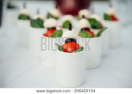 wedding ceremony place in the garden and banquet catering zone