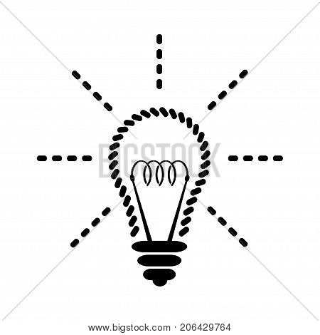 Illustration of light bulbs as a symbol of the idea on a white background.