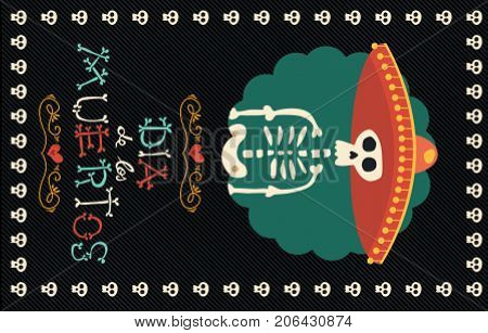 Day Of The Dead Mexican Mariachi Hat Sugar Skull
