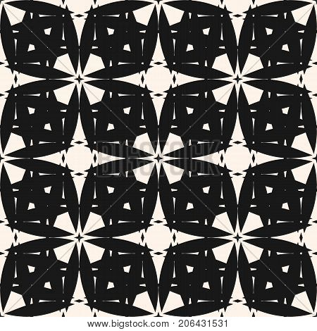 Vector ornamental seamless pattern. Geometric stars ornament. Arabian motif, oriental texture, abstract mosaic. Elegant monochrome background. Design pattern, textile pattern, fabric pattern, floor pattern, ceramic pattern, stars pattern.