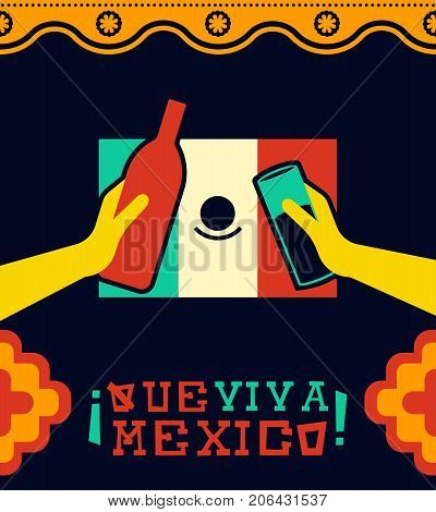 Viva Mexico Traditional Holiday Party Illustration