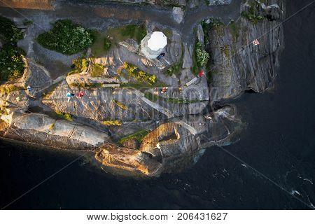 Saltstraumen, vidal stream in north of Norway