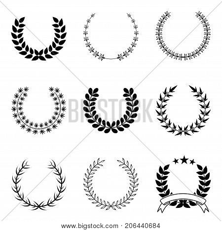 Illustration Collection wreath on a white background.