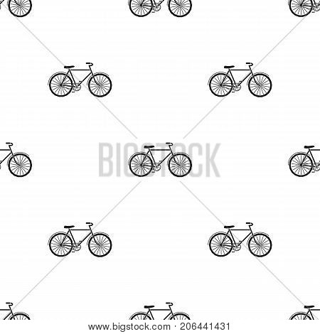 Green bicycle icon in black design isolated on white background. Bio and ecology symbol stock vector illustration.