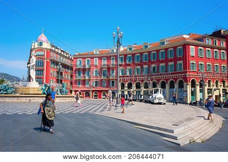 Place Massena In Nice, French Riviera, South France