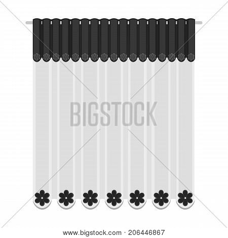 Curtains, single icon in monochrome style.Curtains vector symbol stock illustration .