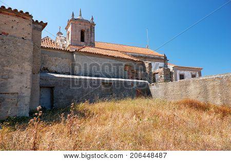 The 15Th Century Our Lady Of The Cape Or Nossa Senhora Do Cabo Church Near Cape Espichel, Portugal