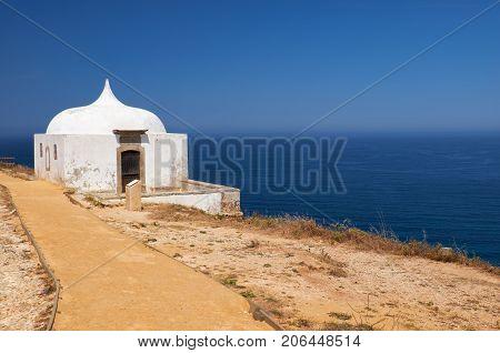 Path Near Ermida Da Memoria Or Memory Chapel Of Nossa Senhora Do Cabo Church Near Cape Espichel, Por