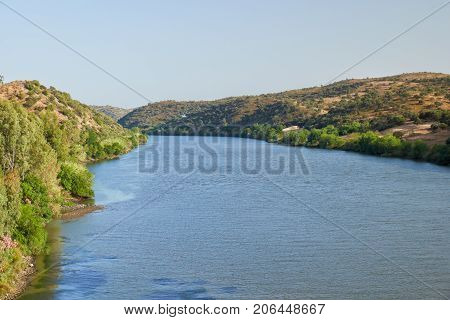 River Guadiana On The Boundary Between Portugal And Spain