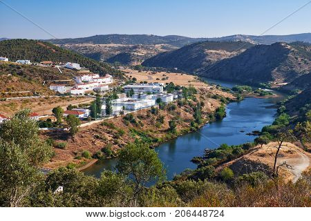 Valley Of River Guadiana. Mertola. Portugal