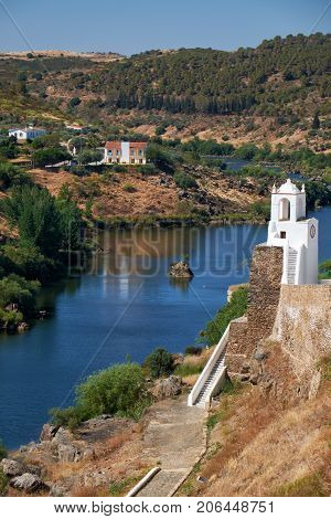 Clock Tower (torre Do Relogio) On The Right Bank Of Guadiana. Mertola. Portugal