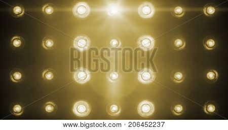 Flashing Shiny Golden Stage Lights Entertainment, Spotlight Projectors In The Dark, Gold Warm Soft L