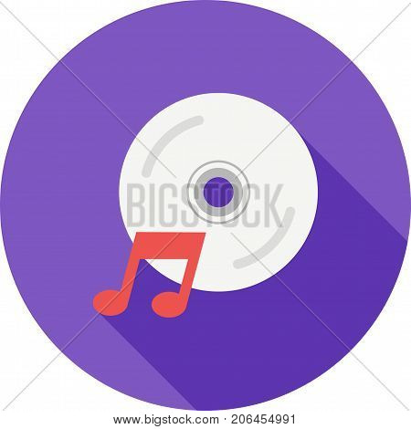 CD, music, songs icon vector image. Can also be used for Cafe and Bar. Suitable for web apps, mobile apps and print media.