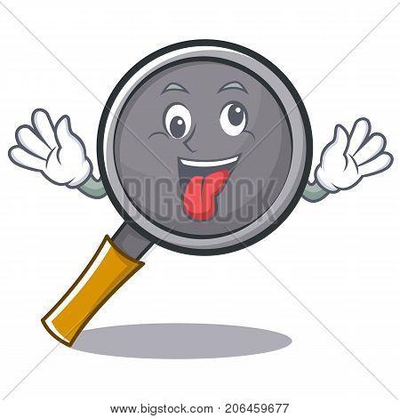 Crazy frying pan cartoon character vector illustration