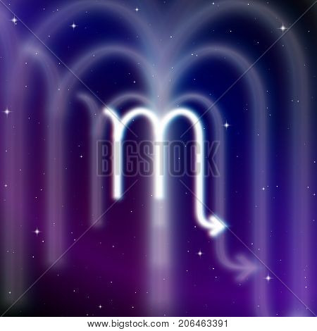 Astrology sign of Scorpio with mystic aura