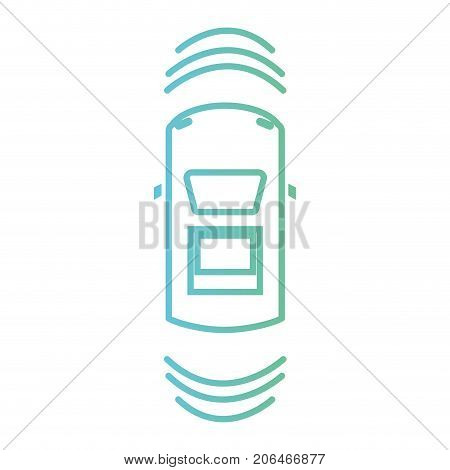 line car transportation from above with sunroof vector illustration