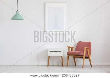 Room With Old-fashioned Pink Chair