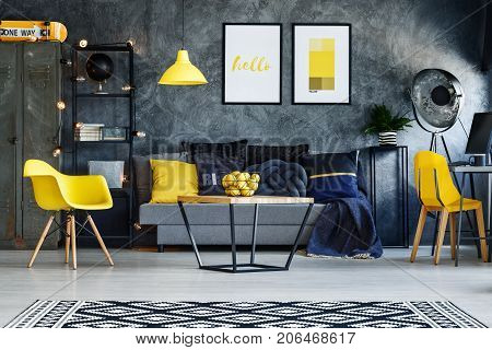 Yellow Chairs In Living Room