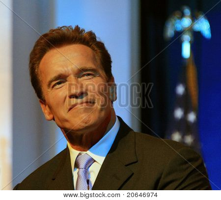 SACRAMENTO - JAN 5: Arnold Schwarzenegger swearing in ceremony at the Memorial Auditorium, Sacramento, California on 5 January 2007.