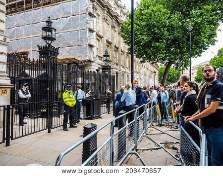 Downing Street In London, Hdr