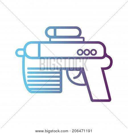 line videogame gun electronic technology vector illustration