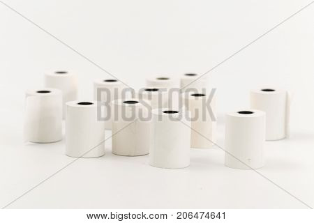 Cash Register Tape On A White Background