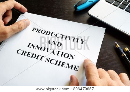 Papers with Productivity and Innovation Credit Scheme (PIC)