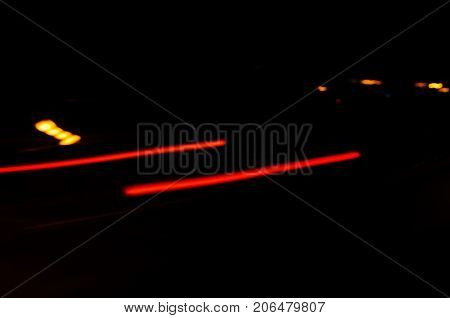 Trails Of The Car Lights