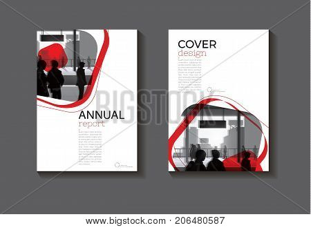 red abstract cover design modern book cover abstract Brochure cover templateannual report magazine and flyer layout Vector a4
