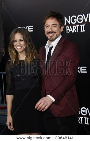 LOS ANGELES - MAY 19: Robert Downey Jr, wife Susan at the premiere of 'The Hangover Part II' held at the Grauman's Chinese Theater in Los Angeles, CA on May 19, 2011.