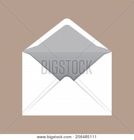 Open c6 envelope mockup. Realistic illustration of open c6 envelope vector mockup for web design