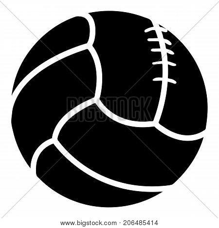 Retro volleyball icon. Simple illustration of retro volleyball vector icon for web