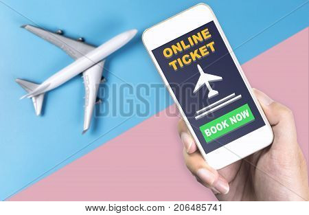 Using smartphone for E Ticket and online ticket booking for Plane travel