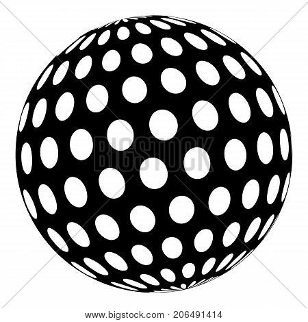 Golf ball icon. Simple illustration of golf ball vector icon for web