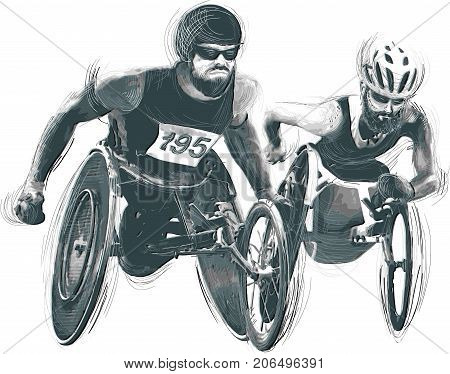 WHEELCHAIR RACING. From the series SILENT HEROES - Athletes with physical disabilities.