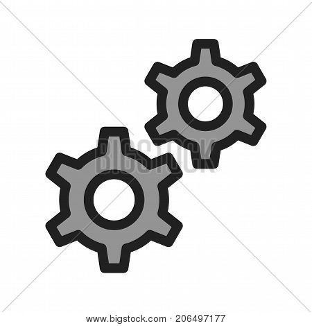 Cog, wheel, web icon vector image. Can also be used for Hand Tools. Suitable for use on web apps, mobile apps and print media