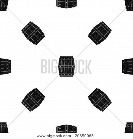 Wooden barrel pattern repeat seamless in black color for any design. Vector geometric illustration