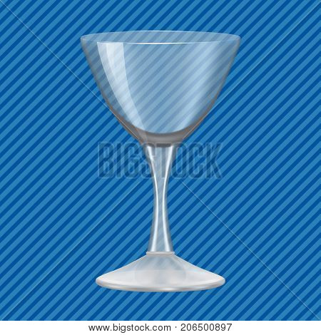 Cocktail glass concept background. Realistic illustration of cocktail glass vector concept background for web design