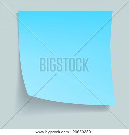 Blue memo stick concept background. Realistic illustration of blue memo stick vector concept background for web design