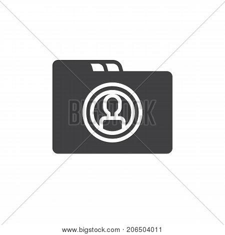 Folder icon vector, filled flat sign, solid pictogram isolated on white. dossier symbol, logo illustration.
